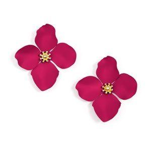 Anthropologie Zenzii Garden Party Flower Earrings